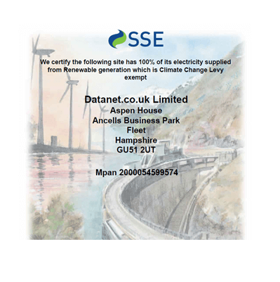 SSE efficiency cert